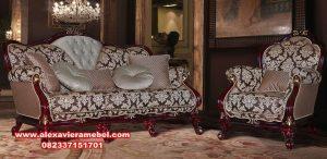 Sofa tamu klasik rafael mahogany romawi Srt-034