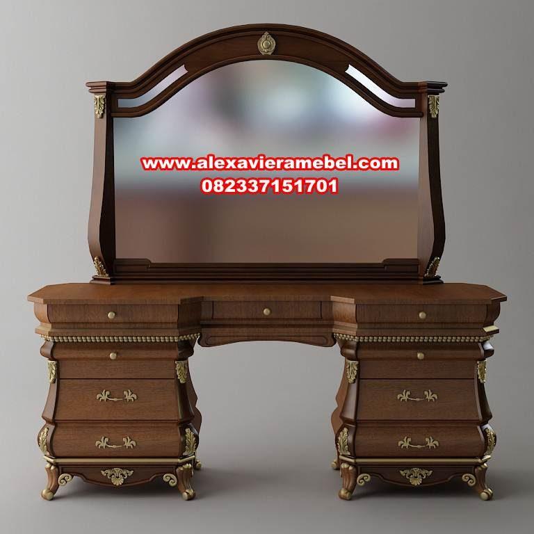 meja rias klasik mewah Jepara terbaru Mkr-033