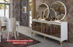 Set meja konsul cermin minimalis putih terbaru Mkr-035