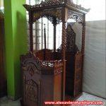desain mimbar masjid ukiran Jepara terbaru Mpm-016