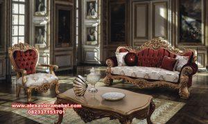 Model kursi tamu sofa klasik eropa kamelia Srt-047