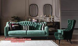 Sofa tamu set minimalis mewah milano green terbaru Srt-048