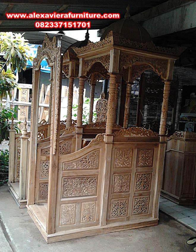 ukuran mimbar masjid jati terbaru mesopotamia, mimbar masjid jati, mimbar masjid, harga mimbar masjid, gambar mimbar masjid