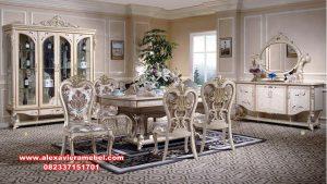 meja makan duco mewah klasik rosalinda, model meja makan mewah terbaru, meja makan klasik, meja makan klasik mewah, meja makan Jepara terbaru, meja makan jati, harga set meja makan mewah, meja makan, kursi makan, meja kursi makan, set kursi makan klasik