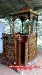 Harga produk mimbar masjid minimalis jati asli Mpm-025