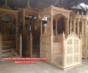 Model mimbar masjid minimalis ukiran Jepara Mpm-024