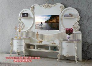 Bufet tv cantik duco mewah klasik kayu mahoni Sbt-033