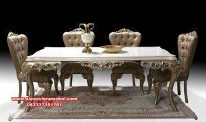 Harga 1 set meja makan mewah Milano Skm-049