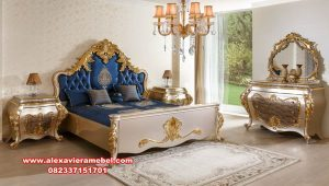 Harga set tempat tidur mewah modern luks atlantik Ks-036