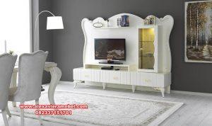 Jual bufet tv duco putih modern mewah terbaru Sbt-034
