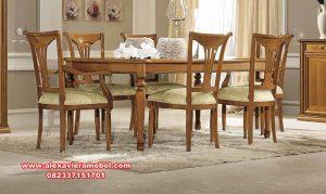 meja makan jati klasik linea arredo. meja makan jati, meja makan klasik, meja makan Jepara terbaru, set kursi makan klasik, model meja makan sederhana