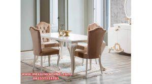 Meja makan mewah modern duco odalar Skm-048