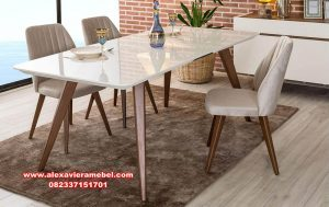 Model set meja makan simpel sederhana Skm-050