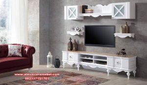 produk bufet tv minimalis putih country, bufet tv, bufet tv minimalis, bufet tv duco, bufet tv modern, bufet tv murah
