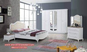 Produk kamar set minimalis putih Jepara model terbaru  Ks-035