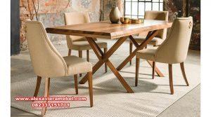 Set meja makan terbaru minimalis madrid Skm-044