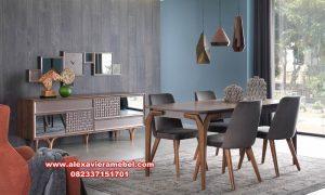 Daftar harga set meja makan minimalis modern sederhana Skm-057