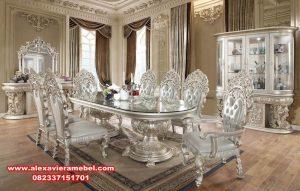 meja kursi makan set mewah klasik mobilya turki skm-055