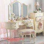 Model meja rias klasik minimalis putih Mkr-043