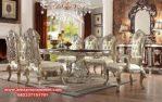 model set meja makan klasik mewah modern ukiran duco skm-054