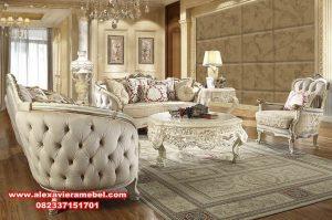 Produk sofa tamu klasik modern duco Jepara terbaru Srt-056