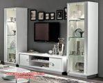 Set bufet tv minimalis modern kaca murah terbaik Sbt-046