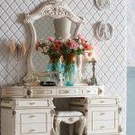 set meja rias mewah modern duco putih, meja rias mewah modern, meja rias mewah, meja rias duco putih, gambar meja rias modern, model meja rias mewah