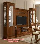 bufet tv set minimalis klasik kayu jati sbt-054