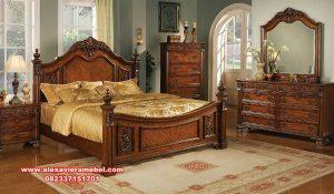 kamar set jati Jepara mewah model terbaru sakura bed room ks-057