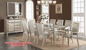 Meja makan modern putih voeville gold Skm-065