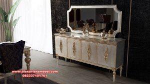 Set meja konsul modern model terbaru dan termewah vivalux Mkr-054