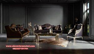 Kursi sofa tamu mewah klasik terbaru padova Srt-067
