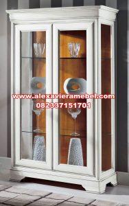Lemari hias 2 pintu modern putih duco Sbt-067
