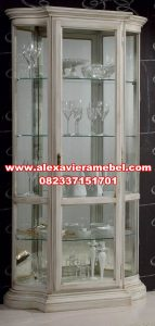 Lemari hias kristal duco modern kontemporer Sbt-066