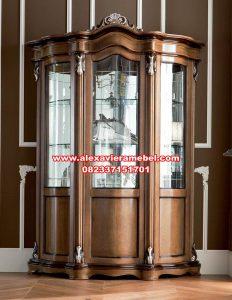 lemari hias mewah kayu jati jepara terbaru sbt-064
