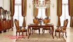 Meja kursi makan set mewah 6 kursi kayu jati Skm-069