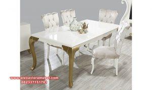 Meja makan modern duco mewah alyans Skm-071