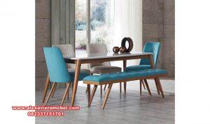 meja makan set minimalis modern blue armada skm-073