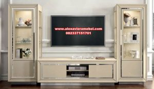 Model set bufet tv modern minimalis white ivory star Sbt-059