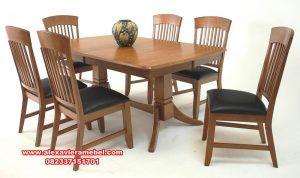 Model set meja makan 6 kursi modern minimalis terbaru Skm-080