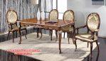 set meja kursi makan mewah jati jepara natural skm-074