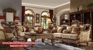 set sofa kursi tamu klasik gold abidzar termewah srt-077