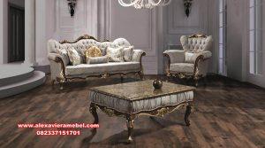 Set sofa mewah modern klasik gold furniture Srt-071