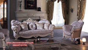 Set sofa tamu klasik mewah duco ukiran lusynda Srt-068
