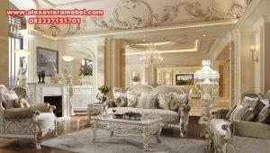 Daftar harga set sofa ruang tamu duco mewah romawi Srt-083