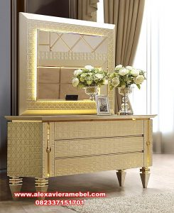 Furniture Jepara model meja rias duco putih modern Mkr-067