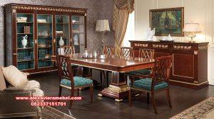 Model meja makan set mewah terbaru 2020 Skm-091