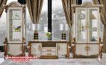Model set bufet tv lemari hias klasik duco mewah vitrina Sbt-070