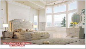 Model tempat tidur set Jepara modern minimalis putih dankim Ks-075