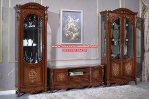Set bufet tv kayu jati klasik mewah chillegio Sbt-072